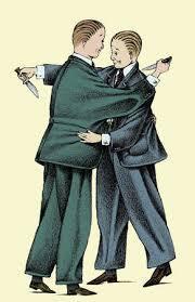 Stock Illustration - Businessmen hugging and stabbing each other ...